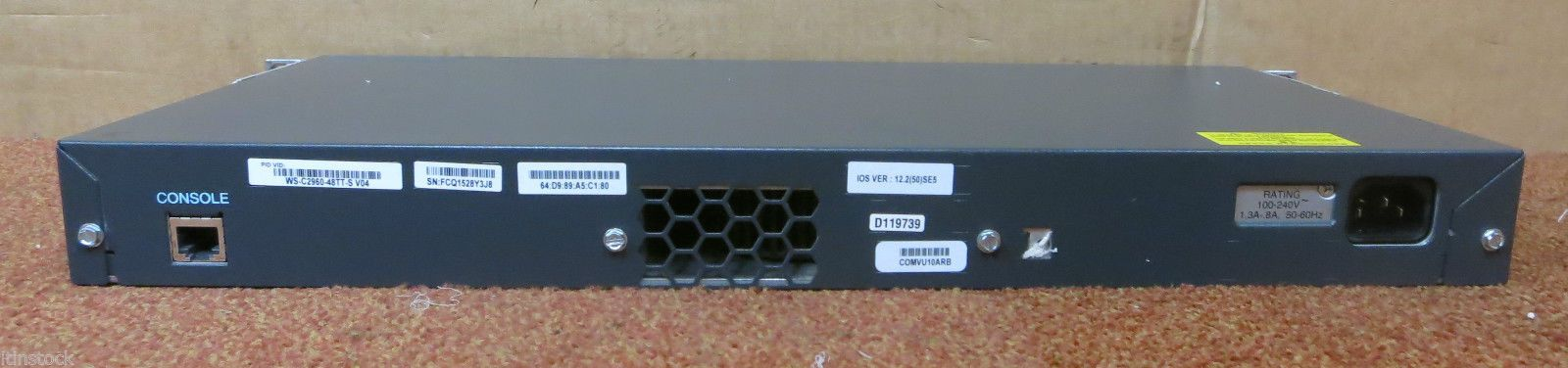 Cisco WS-C2960-48TT-S Catalyst 2960 Series SI 48 Port Ethernet Network  Switch